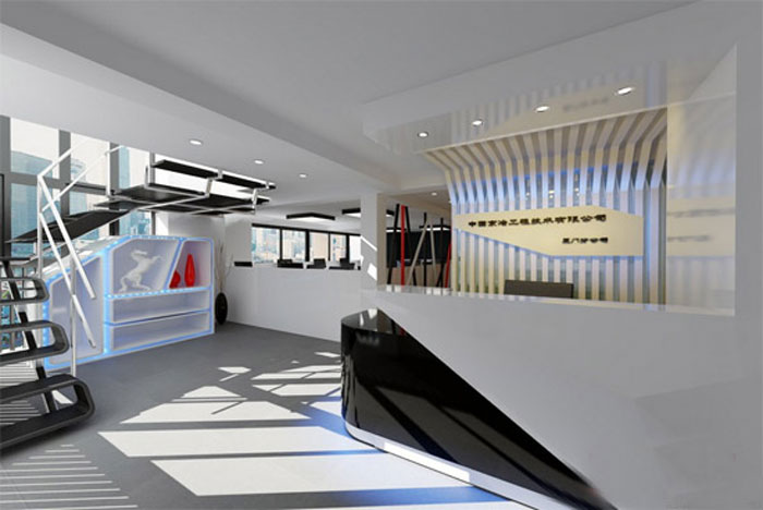 浦东新区裕景国际广场560平办公室装修设计