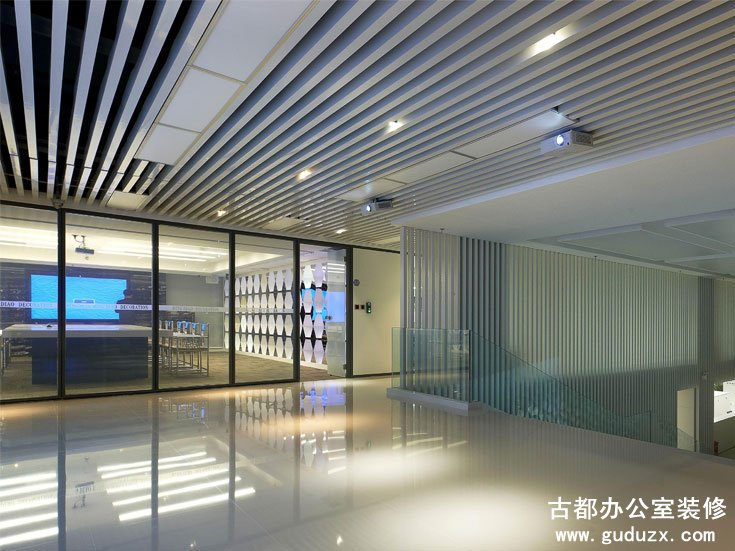 闵行丽琴大厦办公室装潢设计效果图
