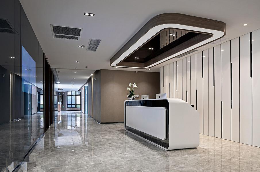 现代风格办公室装修设计前台