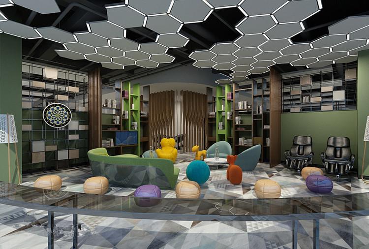 杨浦四季广场现代简约风格办公室设计