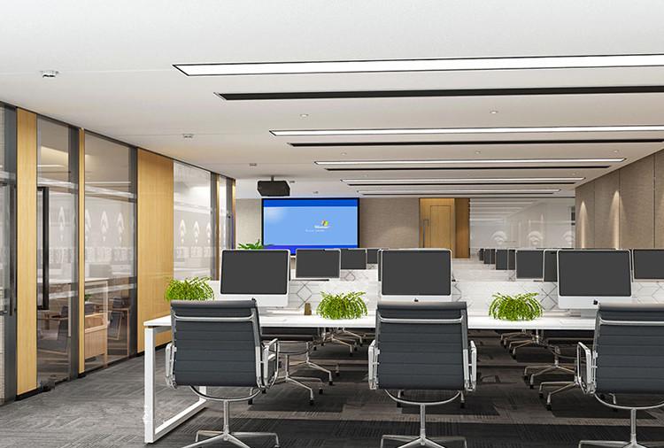 金融国际大厦现代风格办公室设计..