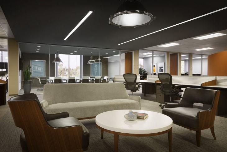 上海办公室装修公司对照明角度的控制
