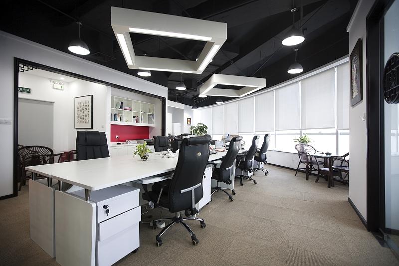 上海办公室装潢设计实景图
