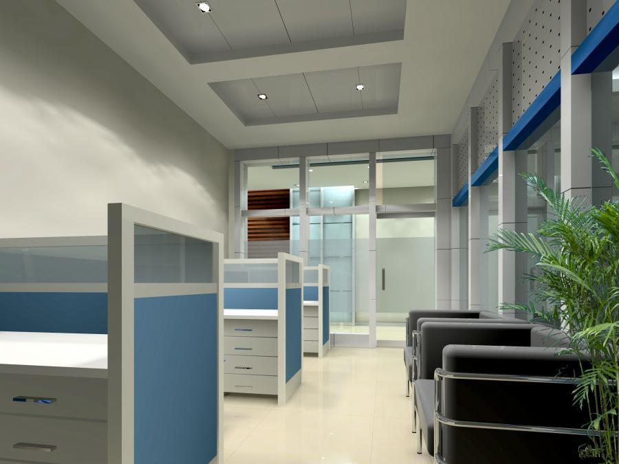 虹口现代简约风格办公室设计案例..