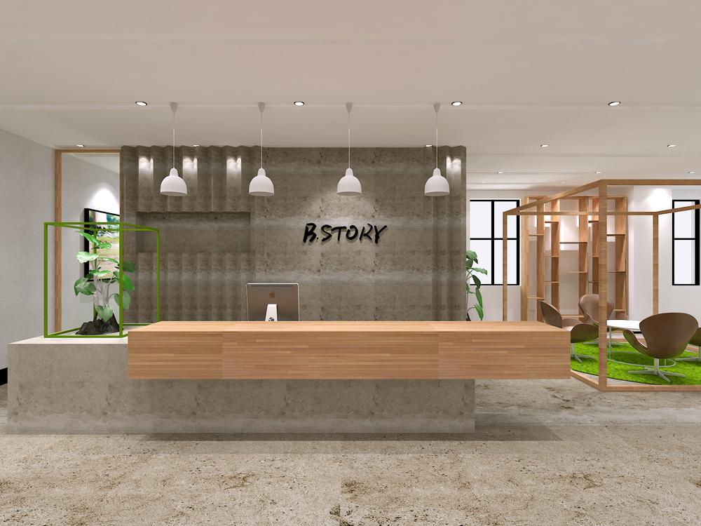 上海贝尚办公室装修设计实景效果图
