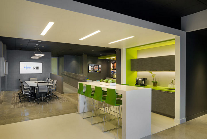优雅的办公室茶水间设计..