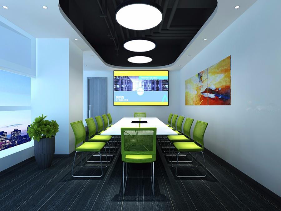 网络科技公司办公室空间装修设计