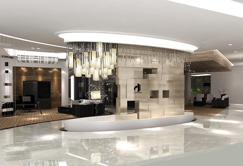 嘉定1000平方米家具展厅设计效果..
