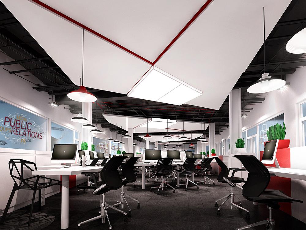 上海普陀办公室装修案例_迪亚传媒公司