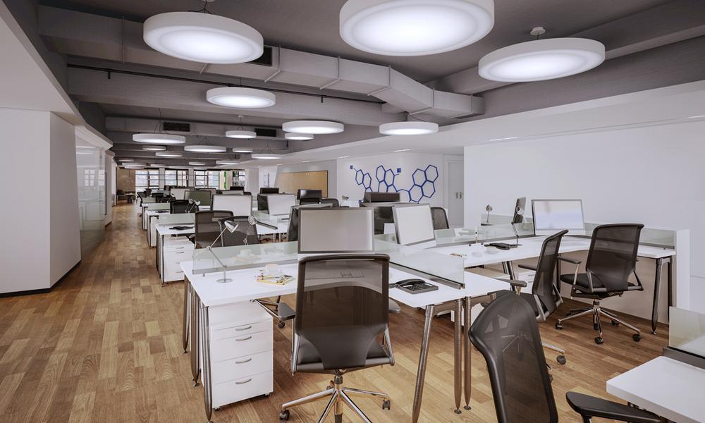 宝山捷迅药业公司办公室设计方案
