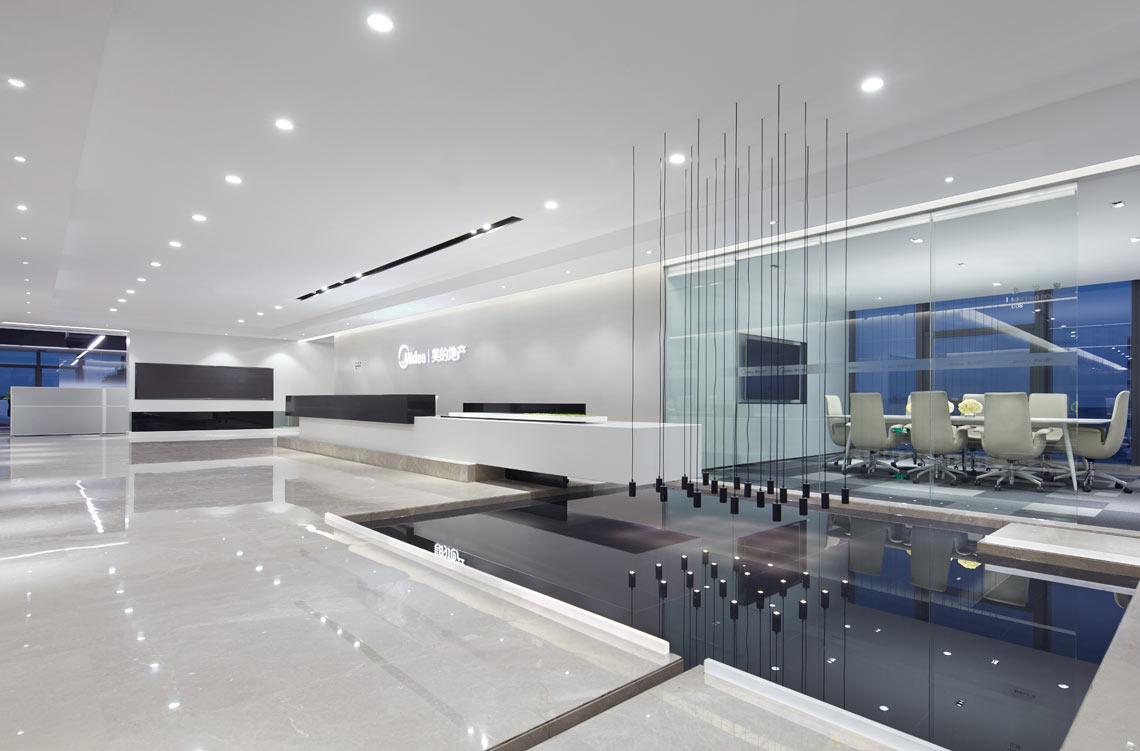 杨浦房地产公司办公室装修设计..