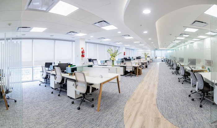 长宁区化妆品公司办公室装修设计