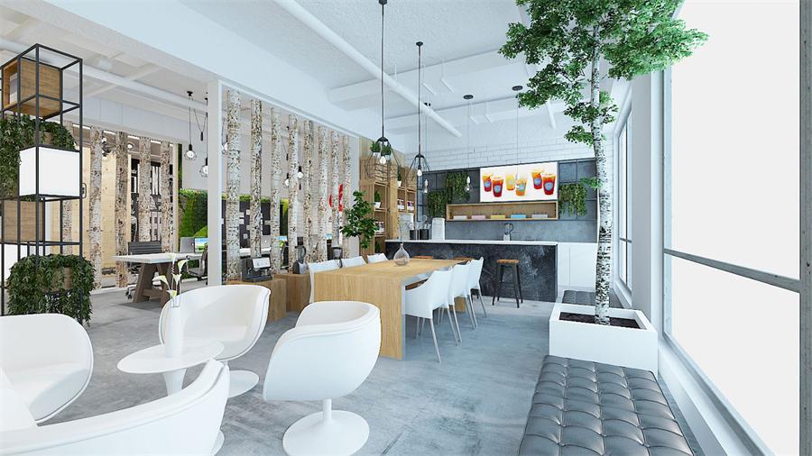 黄浦区餐饮行业公司办公室设计效果