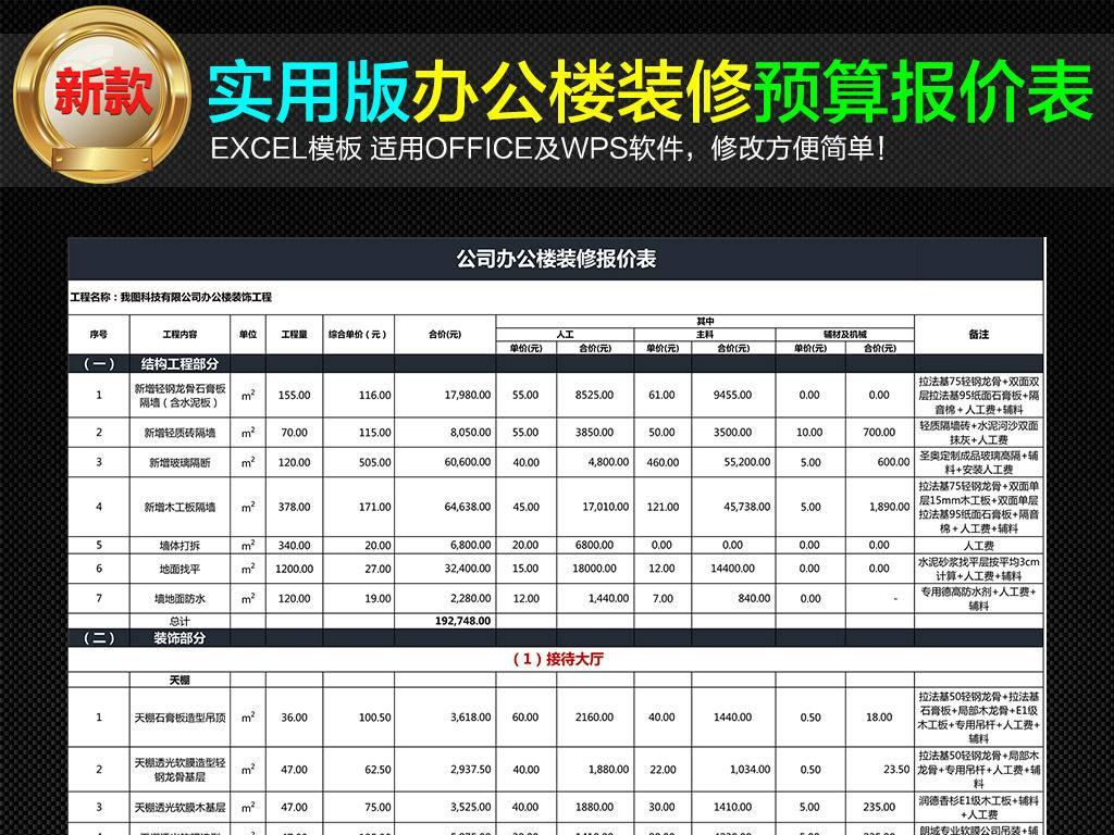 上海古都公司_办公楼装修设计预算
