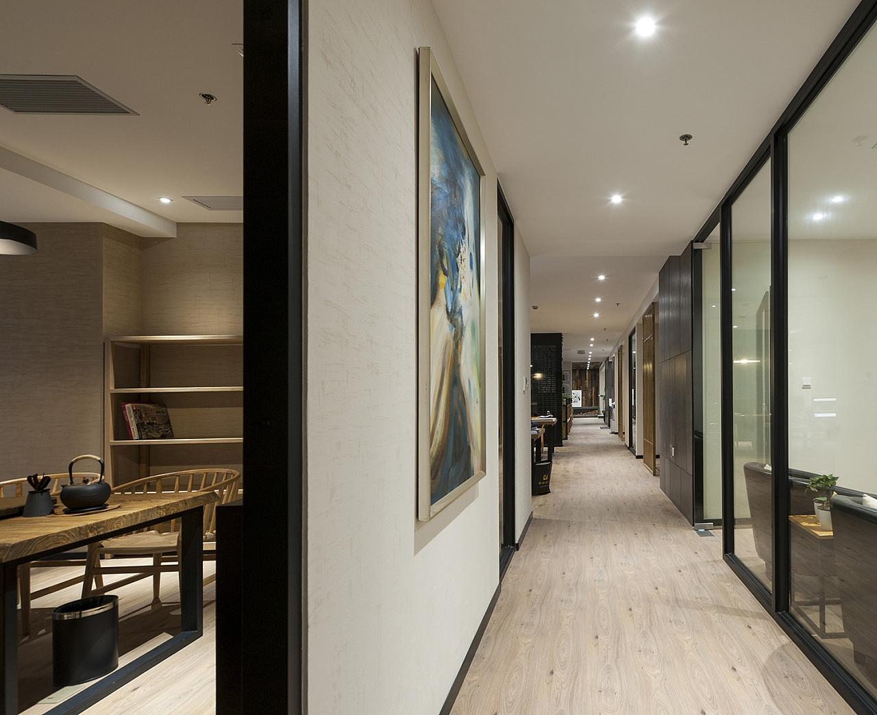 上海办公室设计公司过道设计方案