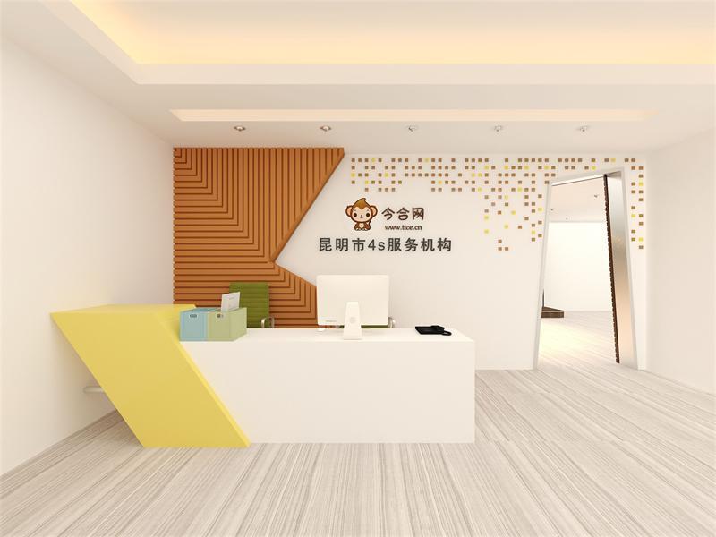 上海小办公室装饰之前台设计