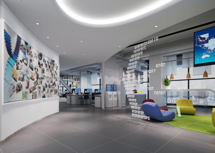 上海普陀电子商务公司办公室装修设计