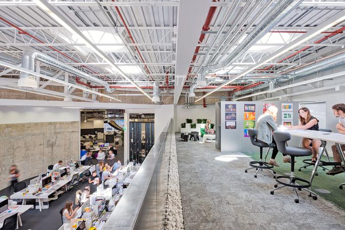 伦敦BrandOpus开放式的工业风格办公室设计