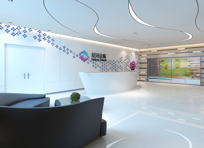 星河金服信息技术公司办公室前台设计