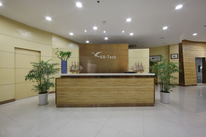 外企科技公司KK-Tech办公室前台设计