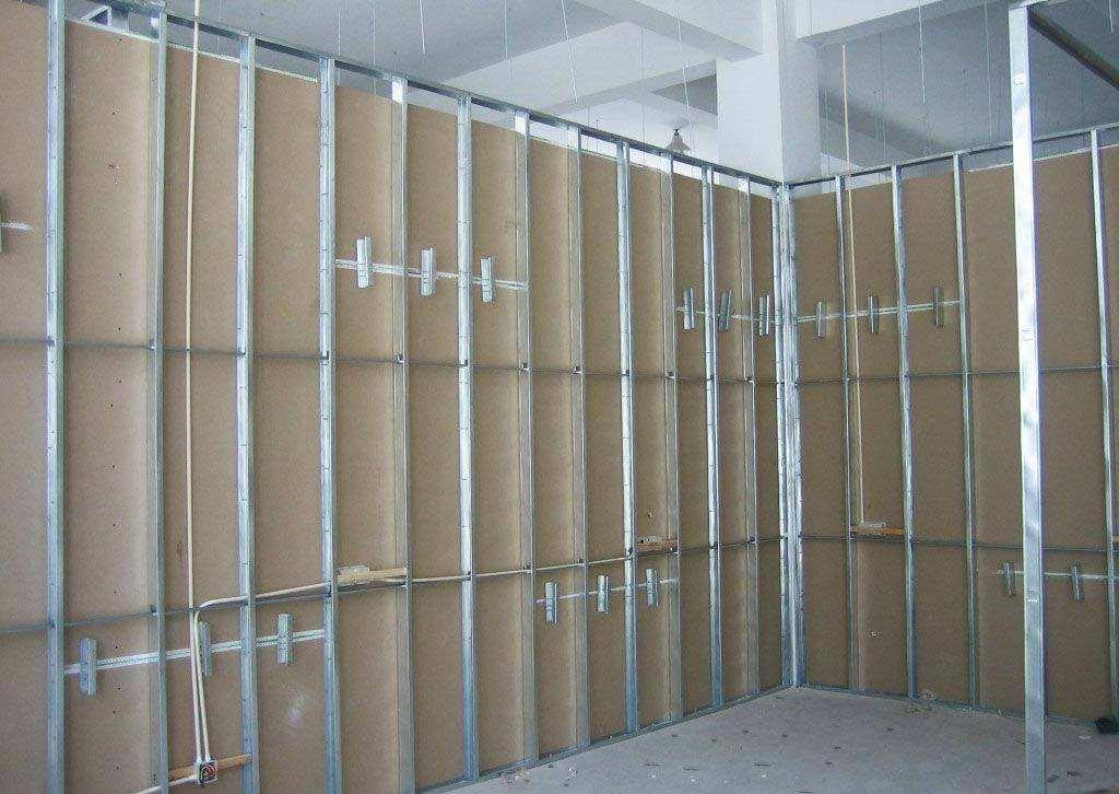 办公室装修公司的轻钢龙骨石膏板隔墙价格