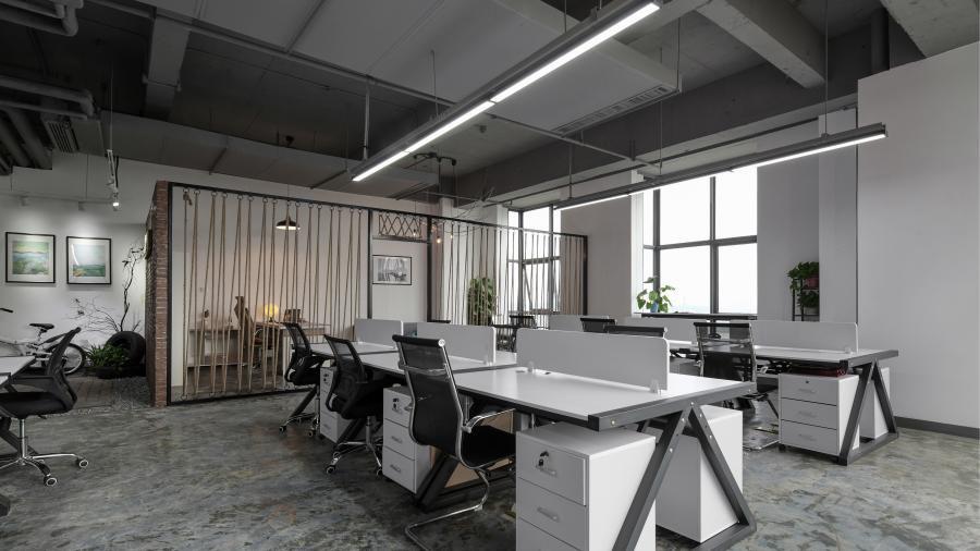 浦东新区500平创意办公空间设计实景