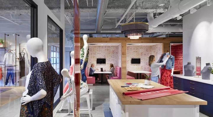 时尚造型的女性品牌公司办公室设计