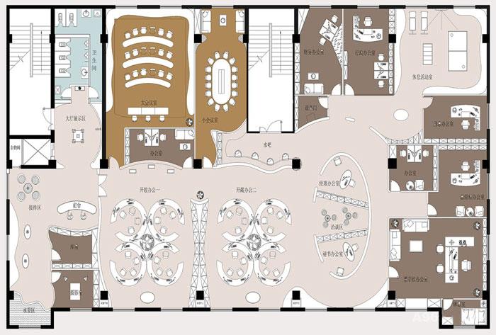 浦东新区600平方中型公司办公室设计装修