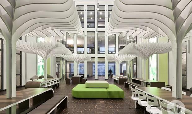 金融投资公司创意休息区设计装修效果