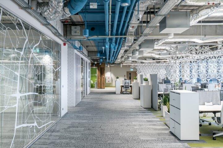 松江1500平米电商平台办公室设计效果