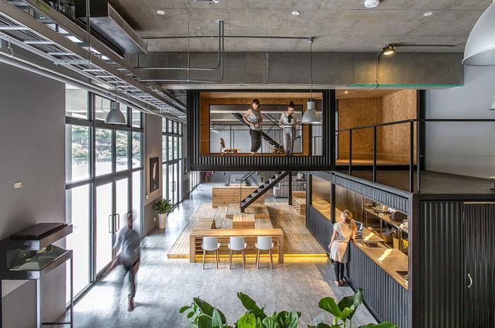 松江物流公司办公室装修设计案例