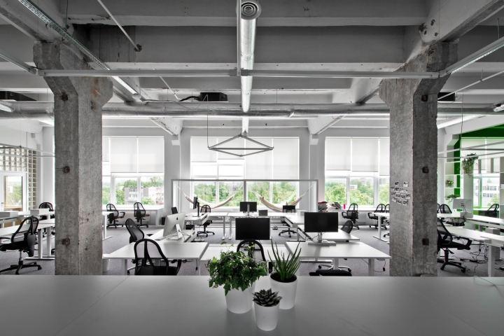 办公室办公区域设计布局主要形式..