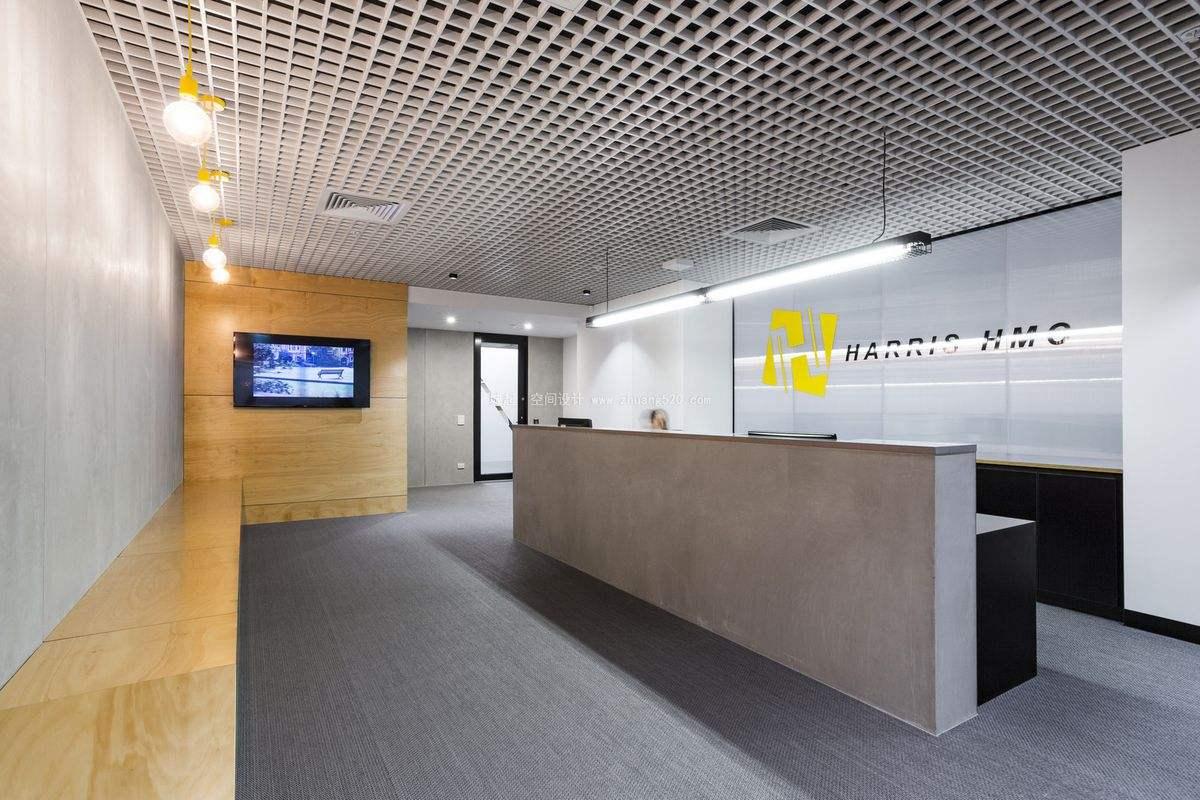 上海办公室设计前台接待区