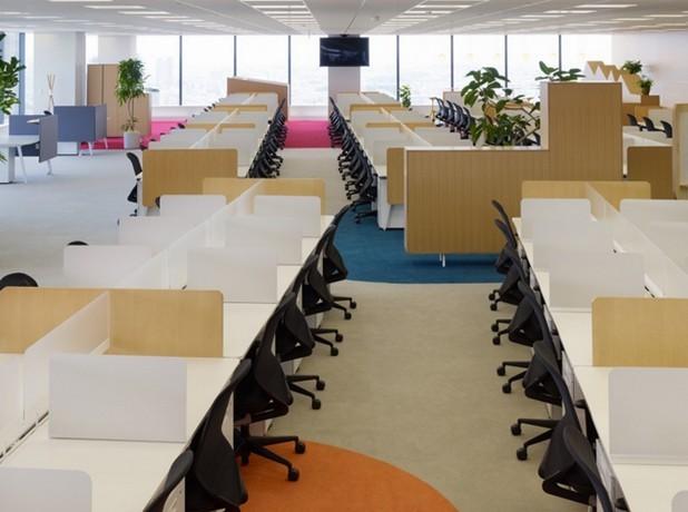 IT行业员工办公空间设计装修效果..