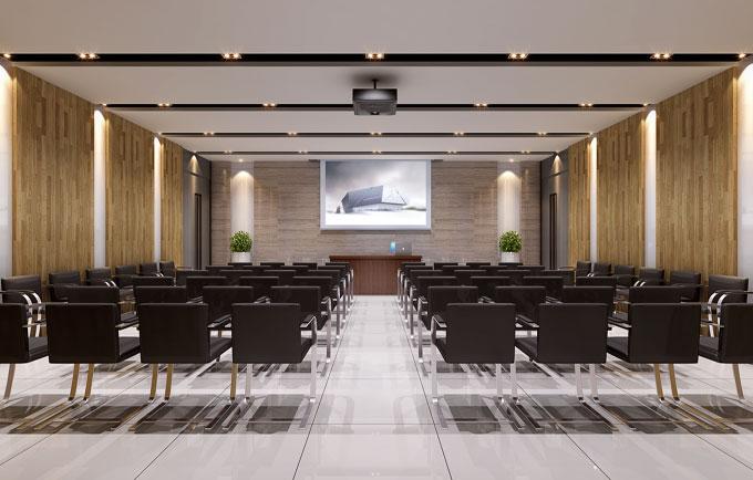 多人视频会议室装修设计效果