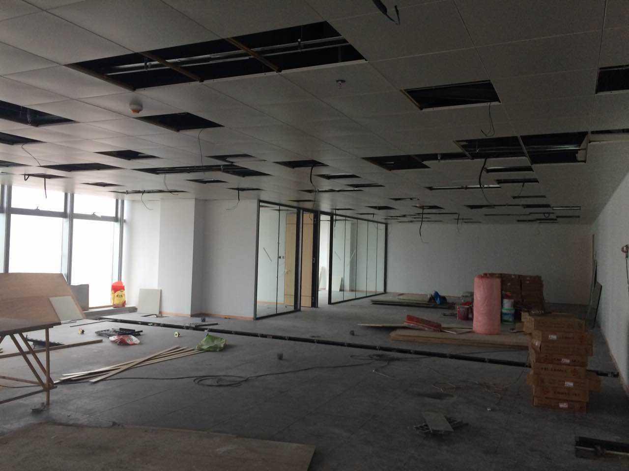 静安嘉里中心200平米办公室复原