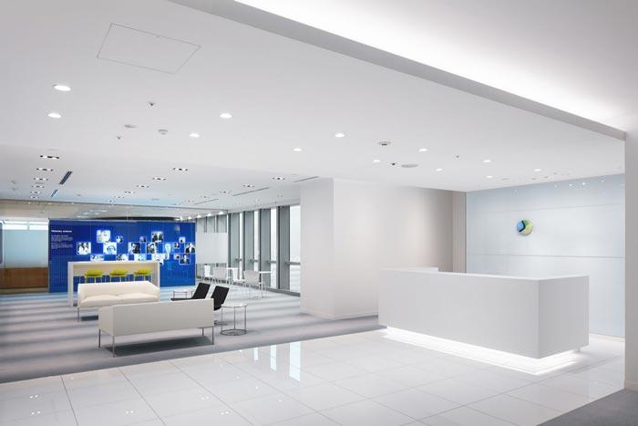 医药中心办公室前台装修设计效果