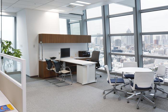 开放式总经理办公室设计装修效果图..