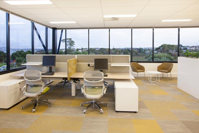 医疗器材公司办公室办公区域设计效果..