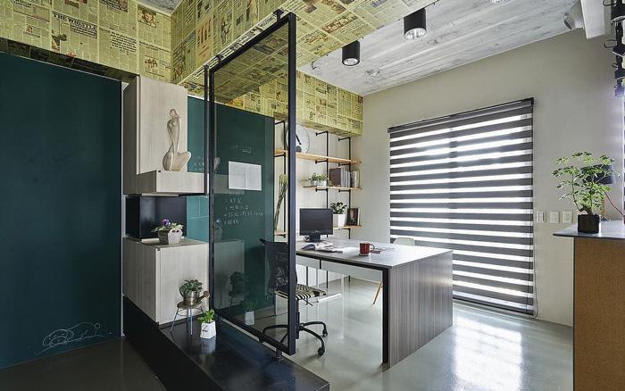 60平方小公司办公室设计效果