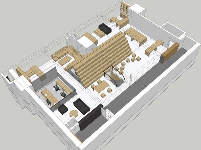 LOFT工艺风格办公室设计高清图片