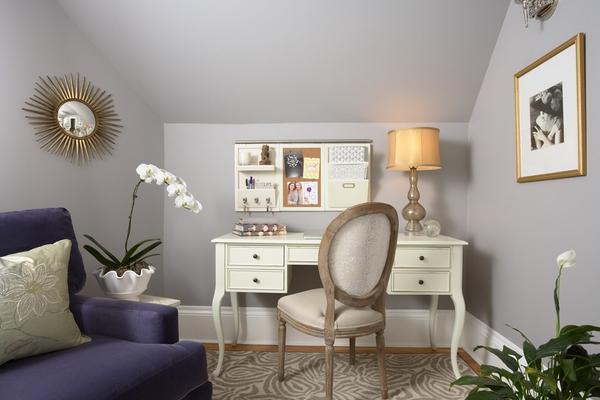 美丽的女性家庭办公室装修效果图
