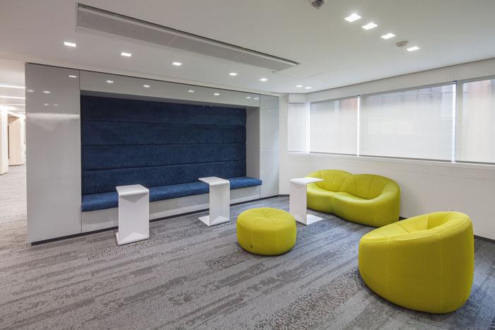 金融公司办公室休息区设计效果图