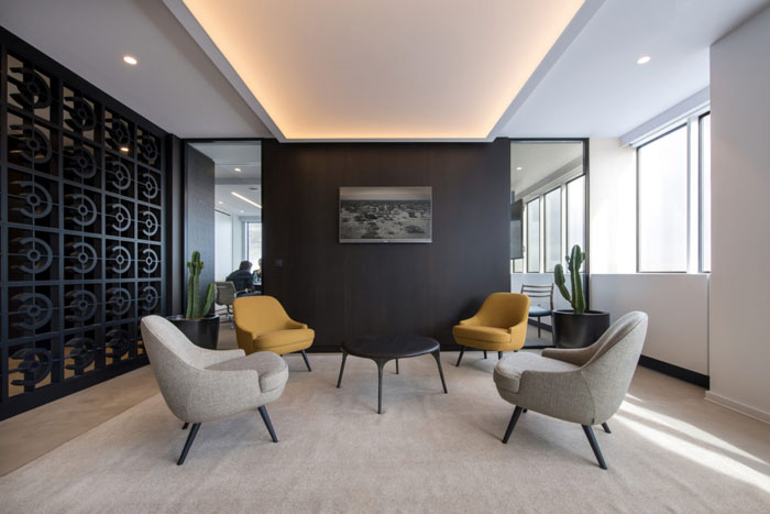 小型办公室接待区设计效果..