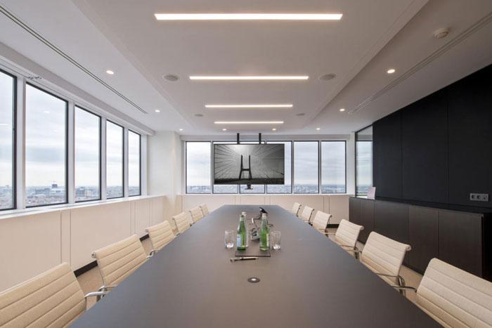 20人办公室会议室设计装修图片