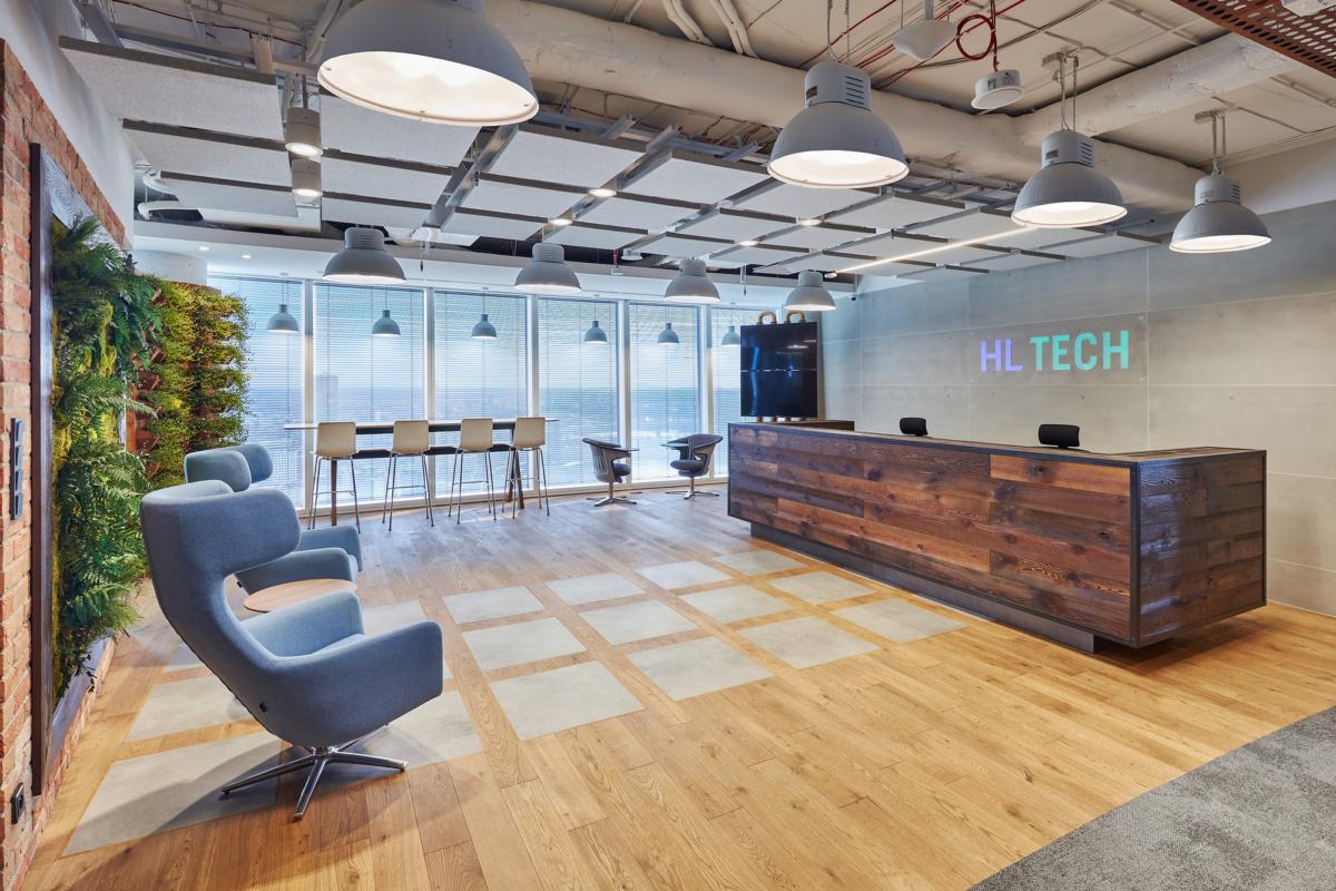宝山办公室装修之办公室前台设计方案