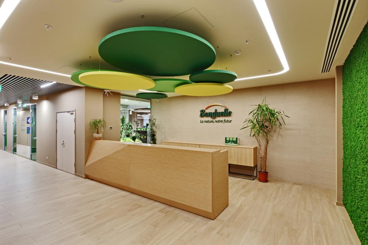 浦东新区办公室设计之办公室前台设计图片