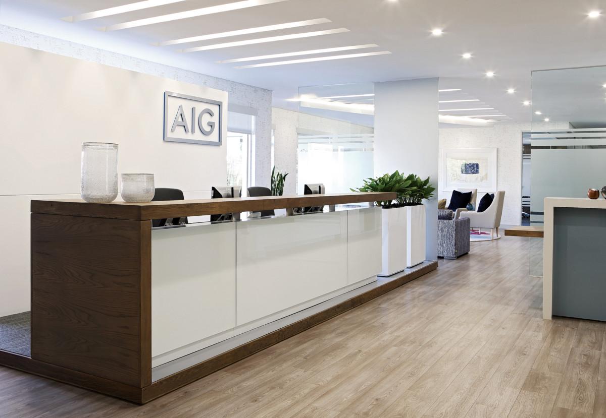 徐汇办公室装修设计之企业前台设计图片