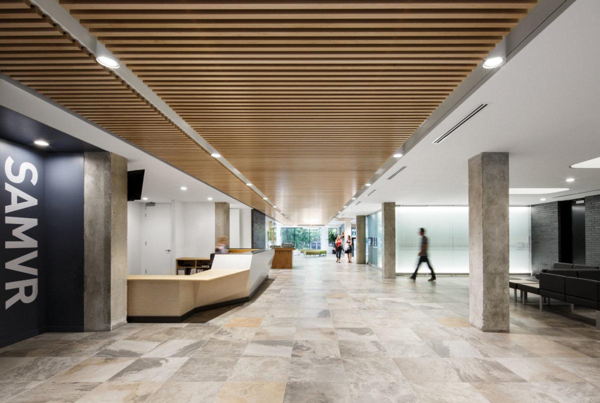 闵行办公室装修装潢企业前台设计方案..