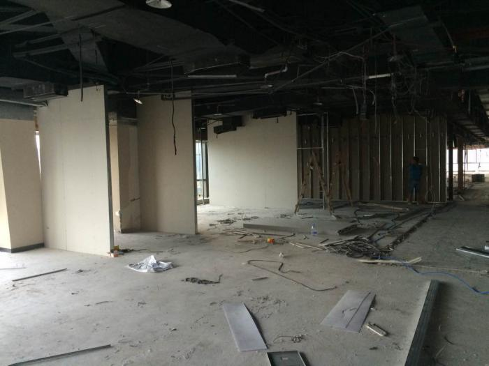 嘉定外岗办公室改造设计施工办公室隔断装修阶